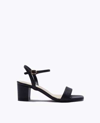 SQUARED OFF BLOCK HEEL SANDALS