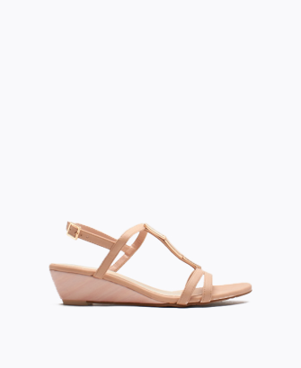 Buckled Low Wedge Sandal