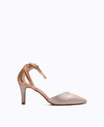 CONTRASTING HIGH HEEL PUMP