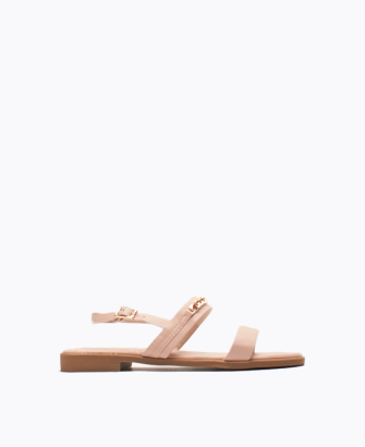 Basic Ankle Strap Sandal with Gold Chain