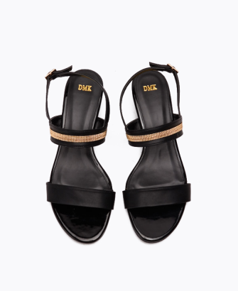 Wedge Sandal with Gold Details